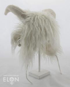 Czapka kozioł (alpaka) biała