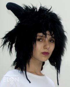 Czapka kozioł (alpaka) czarna