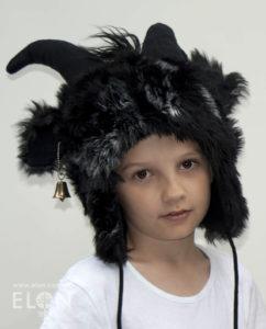 Czapka kozioł łaciaty - czarna