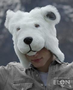 Czapka niedźwiedź biały