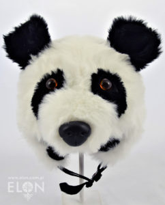 Czapka na kask narciarski - Panda