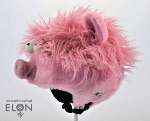 Czapka na kask narciarski - Świnka