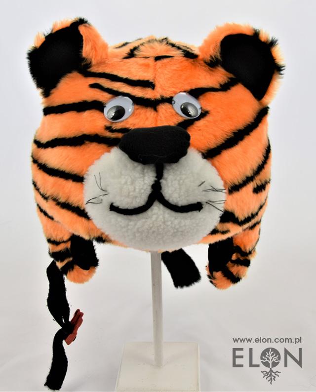 Czapka na kask narciarski - Tygrys