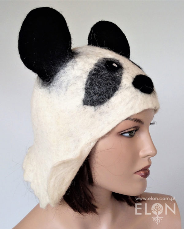 Czapka do sauny Hand Made - Panda